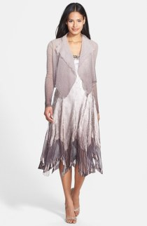 Komarov embellished dress and chiffon jacket - nordstrom.com
