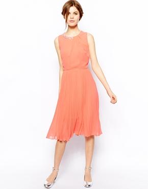 Oasis embellished midi dress - asos.com