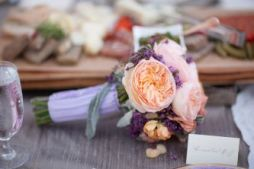 Peach and purple bouquet inspiration {via onewed.com}