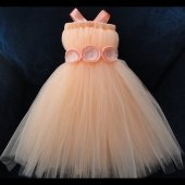 Peach flower girl dress - www.etsy.com/shop/StrawberrieRose