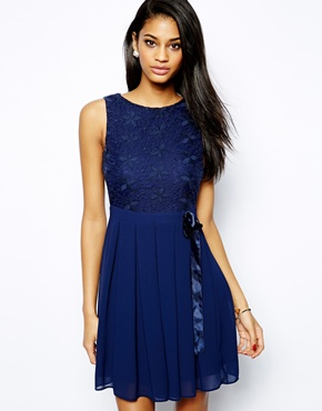 TFNC dress with lace bodice - asos.com