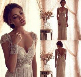 Wedding dress (US$259) - www.etsy.com/shop/LoveBirdsBakery