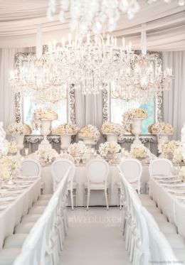 A very white, very opulent wedding {via wedluxe.com}