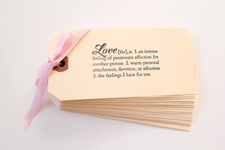 'Love' gift tags or escort cards - www.etsy.com/shop/TheLonelyHeart