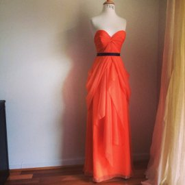 Orange wedding dress - www.etsy.com/shop/TingBridal