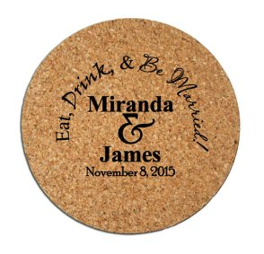 Personalised cork coasters - www.etsy.com/shop/Factory21