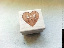 Personalised wedding stamp - www.etsy.com/shop/OnceUponSupplies