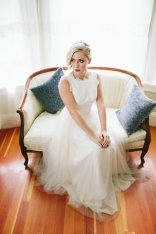 Boat-neck wedding gown - www.etsy.com/shop/TingBridal