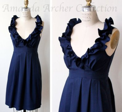 Navy bridesmaid dress - www.etsy.com/shop/AmandaArcher