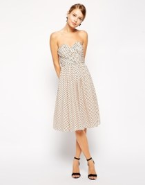 Asos bandeau spot-print dress, from asos.com