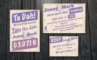 Downloadable wedding invitation and save the date suite - www.etsy.com/shop/CasualMagpie