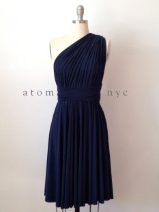 Navy bridesmaid dress - www.etsy.com/shop/AtomAttire