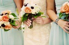 Peach and light blue wedding inspiration {via projectwedding.com}