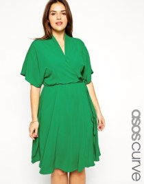 ASOS CURVE Obi Wrap Dress, from asos.com