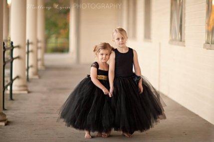 Black flower girl dresses - www.etsy.com/shop/littledreamersinc