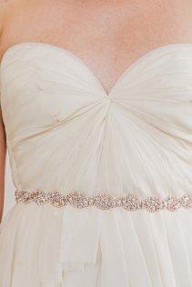Rose-gold bridal sash - www.etsy.com/shop/UntamedPetals
