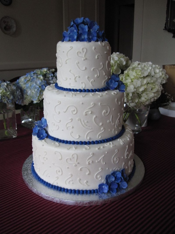 Cobalt And Silver Wedding The Merry Bride