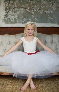 Ballerina-style flower girl dress - www.etsy.com/shop/gillygray