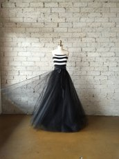 Black and white wedding dress - www.etsy.com/shop/CleoandClementine