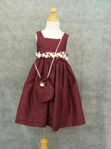 Marsala flower girl dress - www.etsy.com/shop/CecysChildren