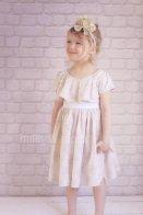 Vintage-look flower girl dress - www.etsy.com/shop/mileyandmoss