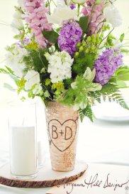 Personalised birch bark vase - www.etsy.com/shop/braggingbags
