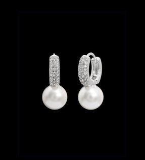 White and silver earrings - www.etsy.com/shop/DesignByKara