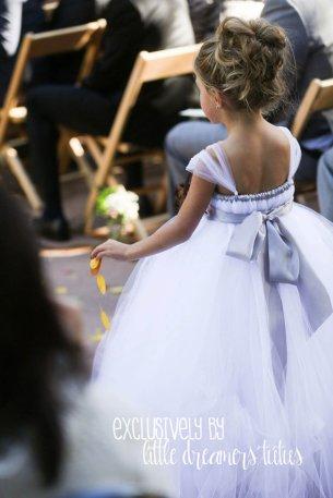 White and silver flower girl dress - www.etsy.com/shop/littledreamersinc