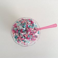 Aqua and pink confetti - www.etsy.com/shop/ConfettiPaperParty