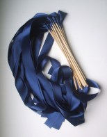 Midnight blue fabric streamer sticks (great for photos!) - www.etsy.com/shop/RomancingJuliet