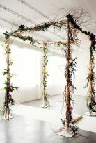 Beautiful rustic twig wedding arbor {via elizabethannedesigns.com}