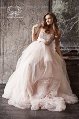 Blush wedding dress - www.etsy.com/shop/DressesLioness