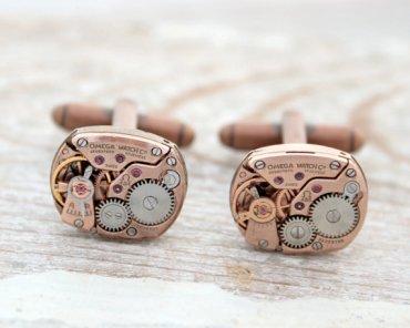 Copper cufflinks - www.etsy.com/shop/KfiatekGiftedHands