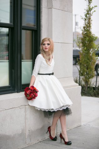 White and black reception dress/short wedding dress - www.etsy.com/shop/thepeppermintpretty