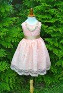 Blush lace flower girl dress - www.etsy.com/shop/MaidenLaneBoutique