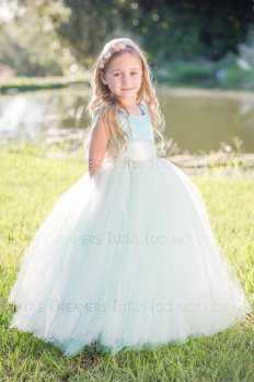 Mint flower girl dress - www.etsy.com/shop/littledreamersinc