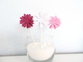 Burgundy and pink cupcake toppers - www.etsy.com/shop/PaperSprouts