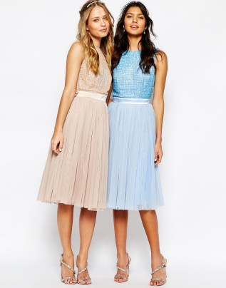 Maya embellished top and tulle skirt bridesmaid dress - asos.com