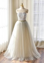 Light grey lace wedding dress $475 - www.etsy.com/shop/WeekendWeddingDress