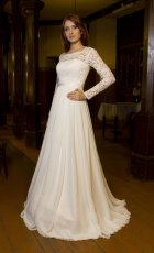 Long-sleeved wedding dress $320 - www.etsy.com/shop/TashaWeddingStudio