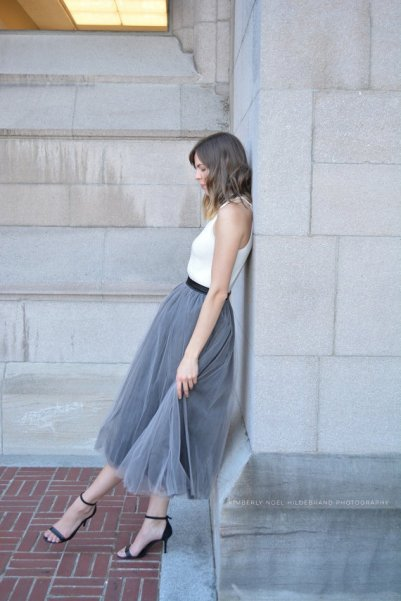 grey bridesmaid tulle skirt - www.etsy.com/shop/breauxsews