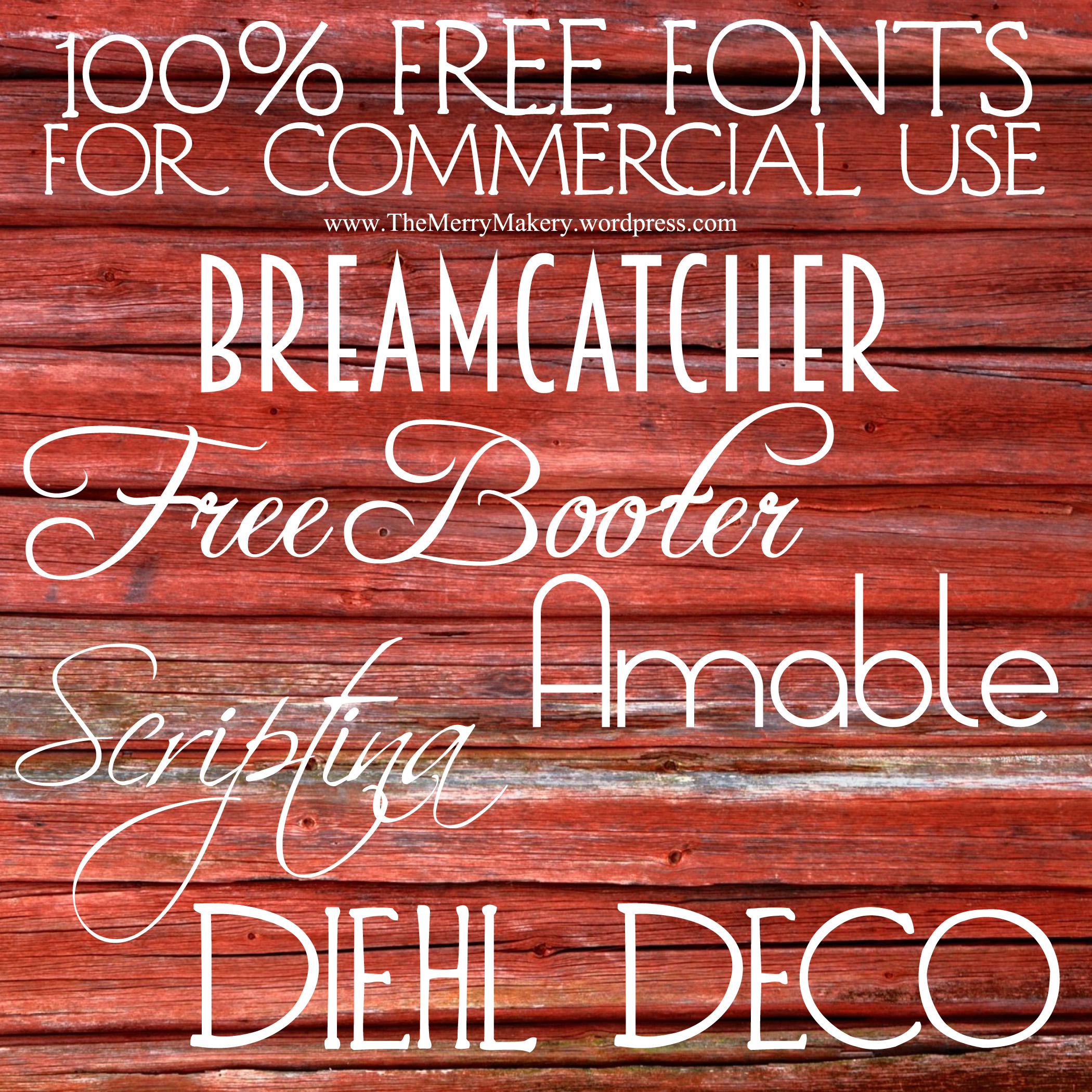 Free Commercial Use Fonts…YES!