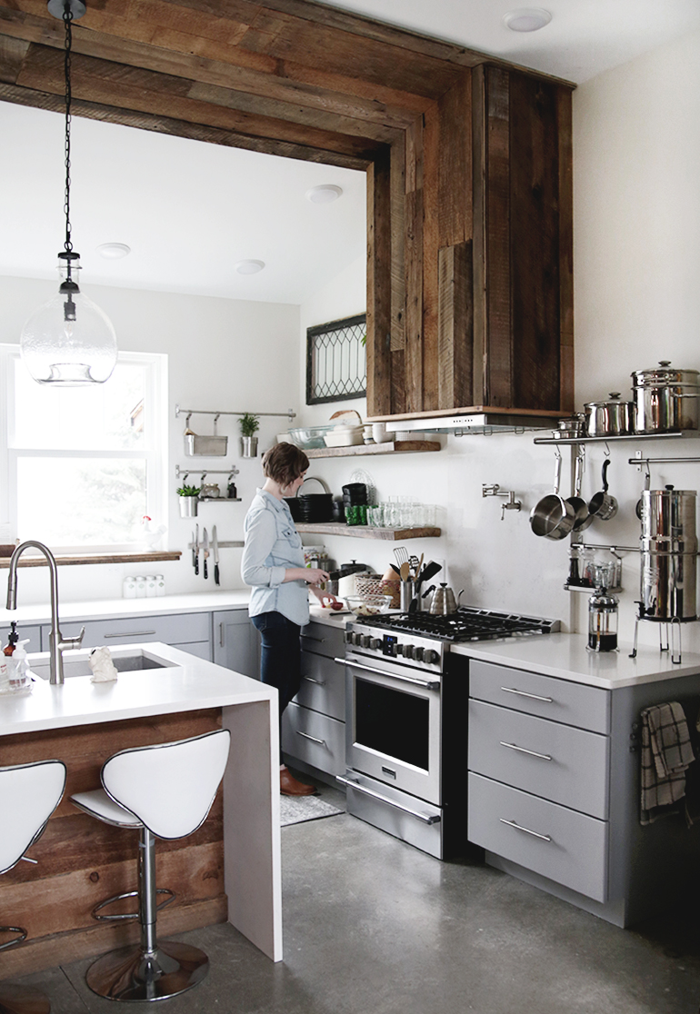 gold kitchen faucet double sink with drainboard modern farmhouse - the merrythought