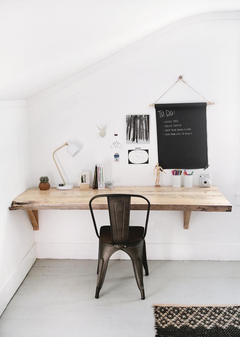 diy live edge wood desk the merrythought