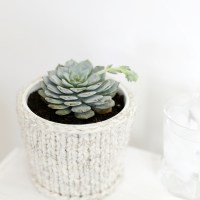 DIY Knit Planter Cover