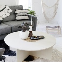 DIY Round Plywood Coffee Table