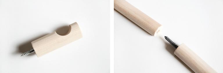 diy wood dowel curtain rods