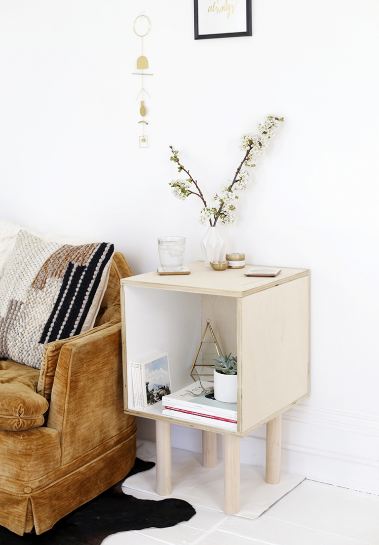 Diy Plywood Side Table The Merrythought