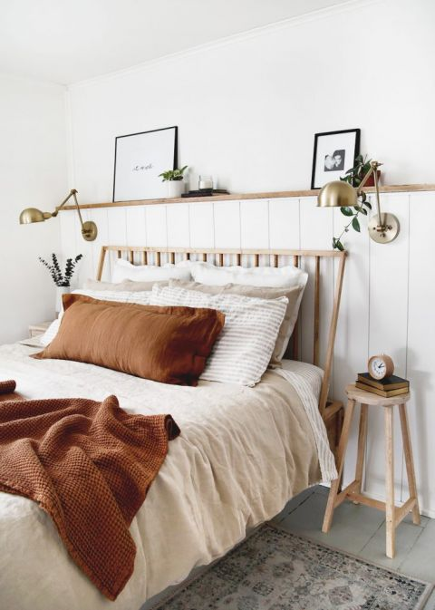 Diy Wood Dowel Headboard Learn How To Make A Simple Headboard