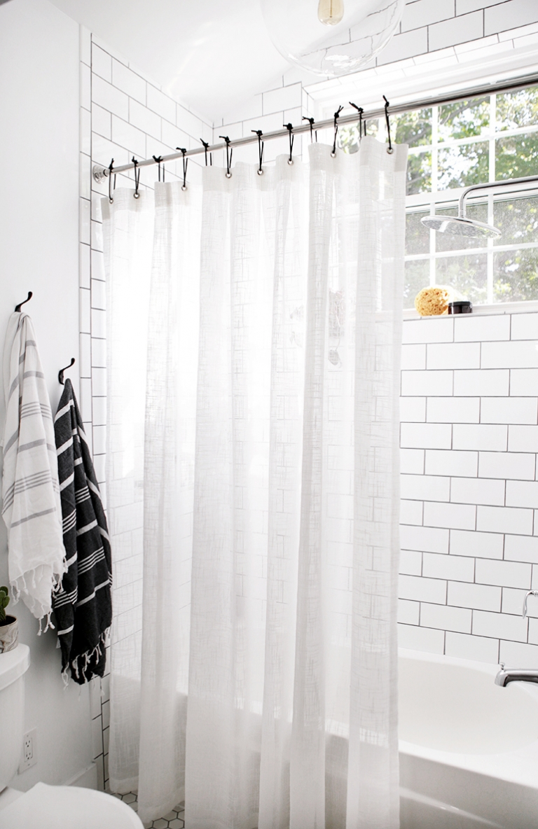 diy leather shower curtain rings the